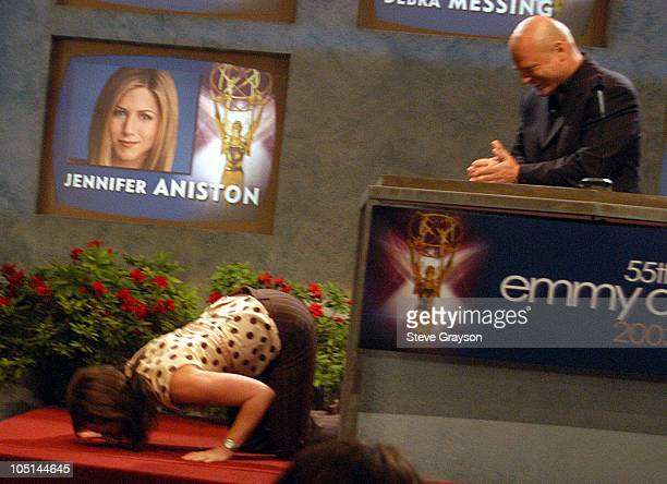 Jane Kaczmarek and Michael Chiklis during 55th Annual Emmy Awards 2003 Nominations at Leonard H Goldenson Theatre in Los Angeles California United...