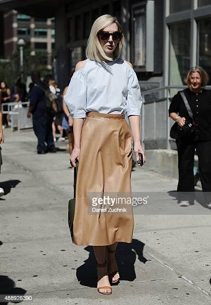 Jane Keltner de Valle is seen outside the Calvin Klein show during New York Fashion Week 2016 on September 17 2015 in New York City