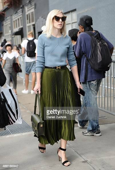 Jane Keltner de Valle is seen outside the DVF show during New York Fashion Week 2016 on September 13 2015 in New York City