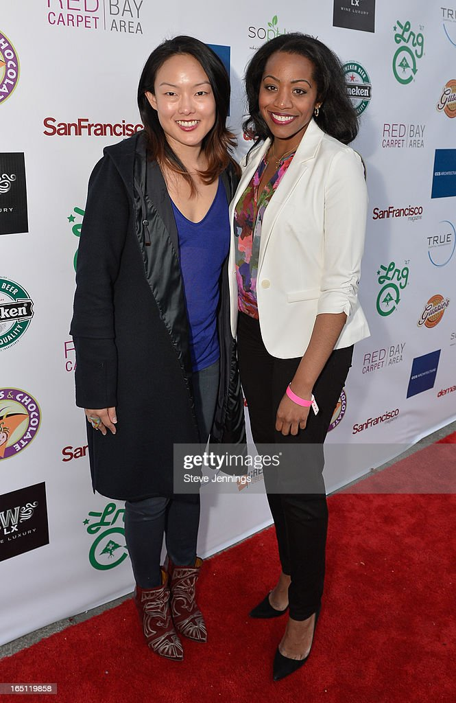 Jane Kim and Malia Cohen (L-R) attend the 6th Annual 'Where Hip Hop Meets Couture' Fashion Show at Dog Patch Wine Works on March 30, 2013 in San Francisco, California.
