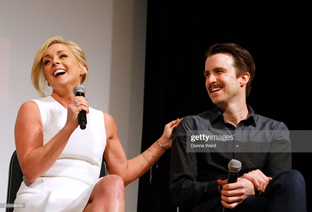 <a gi-track='captionPersonalityLinkClicked' href=/galleries/search?phrase=Jane+Krakowski&family=editorial&specificpeople=203166 ng-click='$event.stopPropagation()'>Jane Krakowski</a> and Gavin Creel appear to discuss 'She Loves Me' during the SAG-AFTRA Foundation Conversations series at The New School on April 28, 2016 in New York City.
