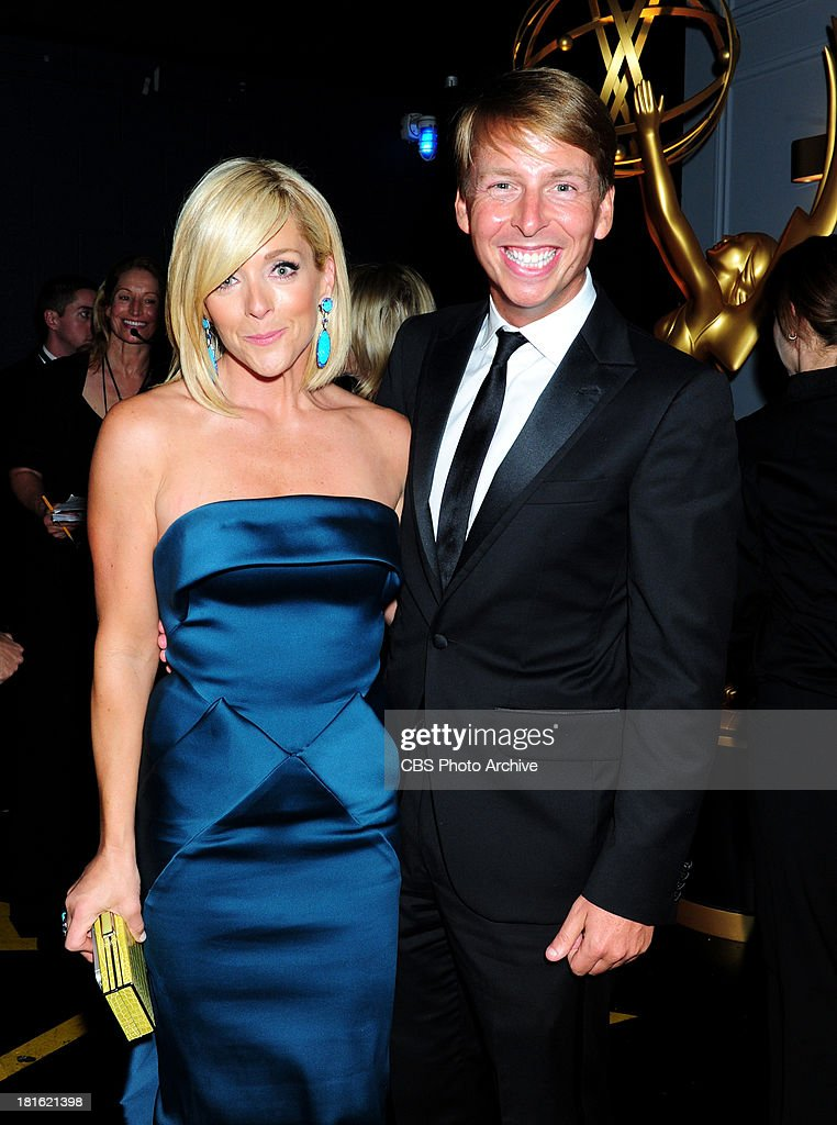Jane Krakowski and Jack McBrayer at the65th Primetime Emmy Awards which will be broadcast live across the country 8001100 PM ET/ 500800 PM PT from...