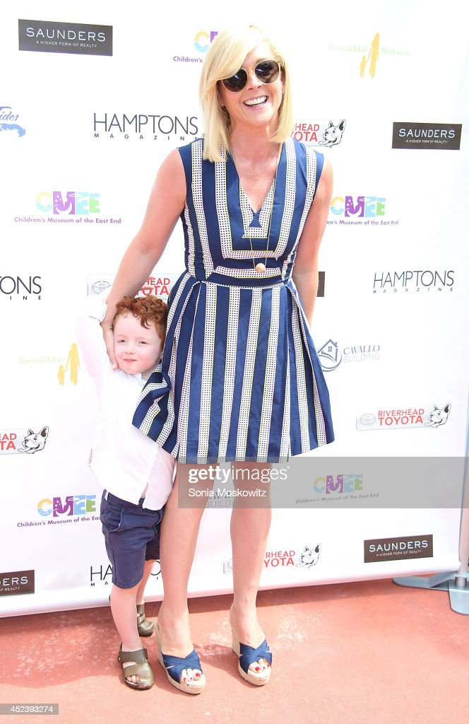 Jane Krakowski and son Bennett Godley attend the 6th Annual Family Affair hosted by CMEE at Children's Museum of the East End on July 19 2014 in...