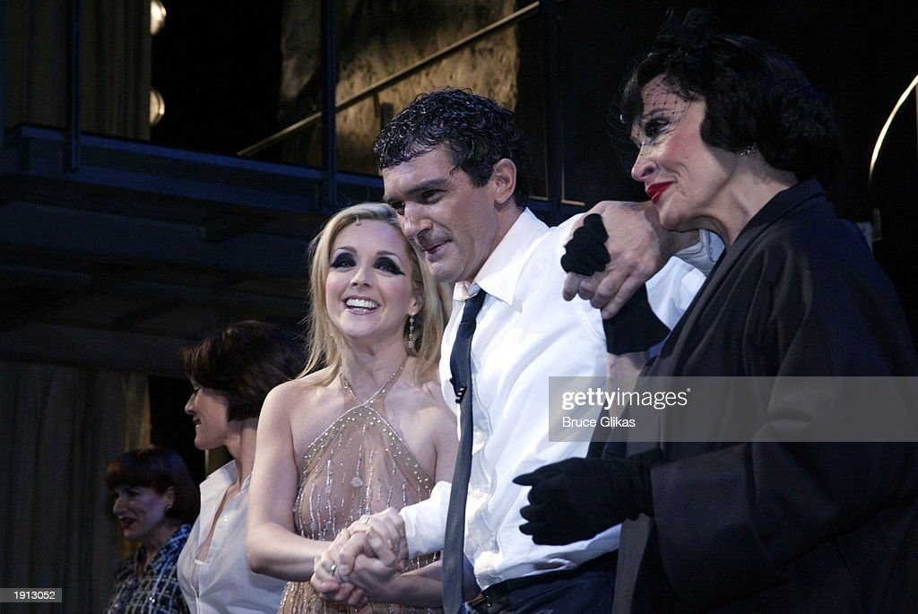 Jane Krakowski Antonio Banderas and Chita Rivera take their Curtain Call at the Opening Night for The Roundabout Theater Company Production of 'Nine'...
