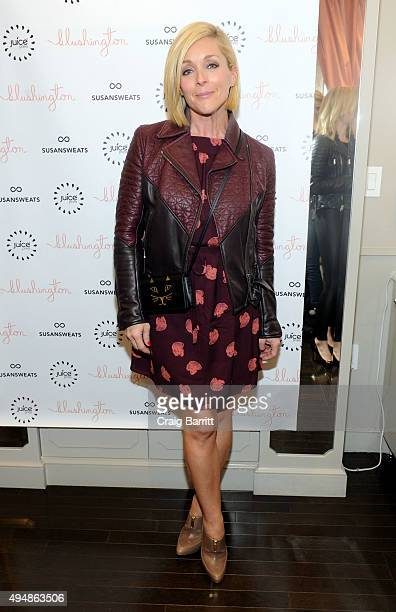 Jane Krakowski attends the Susan Sweats launch party at Blushington NYC on October 29 2015 in New York City