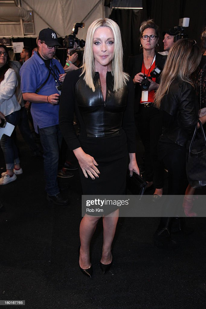 <a gi-track='captionPersonalityLinkClicked' href=/galleries/search?phrase=Jane+Krakowski&family=editorial&specificpeople=203166 ng-click='$event.stopPropagation()'>Jane Krakowski</a> backstage at the Kaufmanfranco show during Spring 2014 Mercedes-Benz Fashion Week at The Theatre at Lincoln Center on September 9, 2013 in New York City.