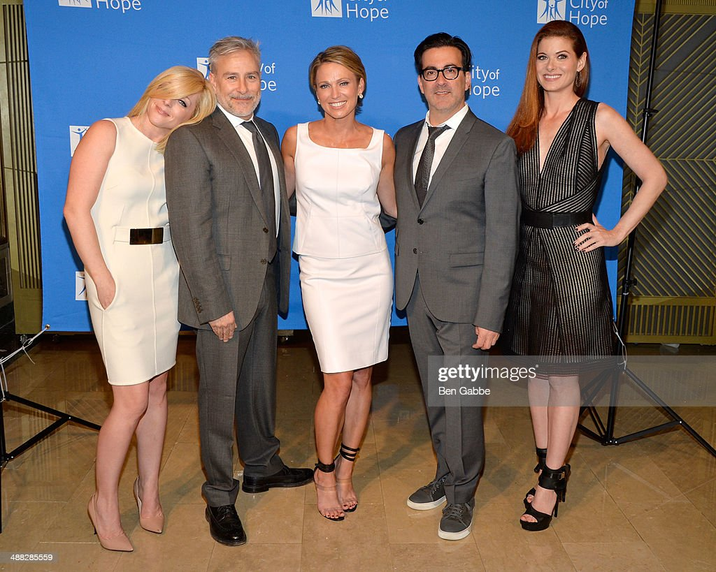 <a gi-track='captionPersonalityLinkClicked' href=/galleries/search?phrase=Jane+Krakowski&family=editorial&specificpeople=203166 ng-click='$event.stopPropagation()'>Jane Krakowski</a>, designer <a gi-track='captionPersonalityLinkClicked' href=/galleries/search?phrase=Ken+Kaufman&family=editorial&specificpeople=1374754 ng-click='$event.stopPropagation()'>Ken Kaufman</a>, <a gi-track='captionPersonalityLinkClicked' href=/galleries/search?phrase=Amy+Robach&family=editorial&specificpeople=3075672 ng-click='$event.stopPropagation()'>Amy Robach</a>, designer <a gi-track='captionPersonalityLinkClicked' href=/galleries/search?phrase=Isaac+Franco&family=editorial&specificpeople=3069791 ng-click='$event.stopPropagation()'>Isaac Franco</a> and <a gi-track='captionPersonalityLinkClicked' href=/galleries/search?phrase=Debra+Messing&family=editorial&specificpeople=202114 ng-click='$event.stopPropagation()'>Debra Messing</a> attend 2014 'Spirit Of Life' Awards Luncheon at The Plaza Hotel on May 5, 2014 in New York City.