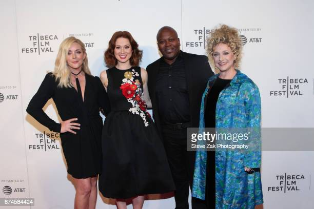 Jane Krakowski Ellie Kemper Titus Burgess and Carol Kane attend the screening of 'Unbreakable Kimmy Schmidt' during the 2017 Tribeca Film Festival at...