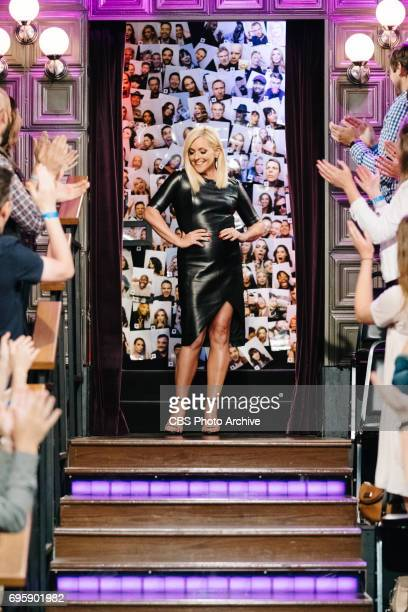 Jane Krakowski greets the audience during 'The Late Late Show with James Corden' Tuesday June 13 2017 On The CBS Television Network