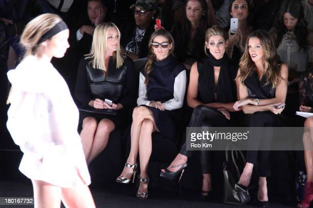Jane Krakowski Olivia Palermo Ashley Greene and Katie Cassidy front row at the Kaufmanfranco show during Spring 2014 MercedesBenz Fashion Week at The...