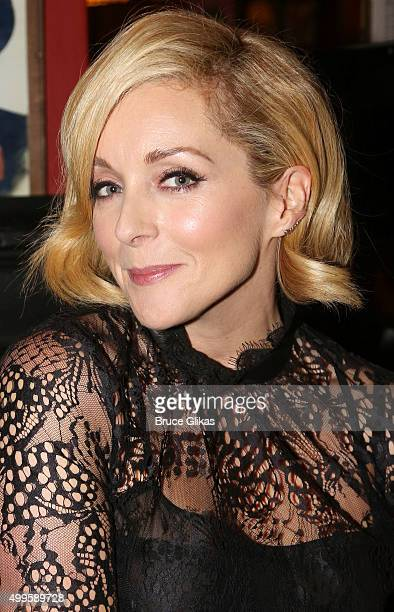 Jane Krakowski poses at composer Sheldon Harnick's Sardis caricature unveiling at Sardis on December 1 2015 in New York City