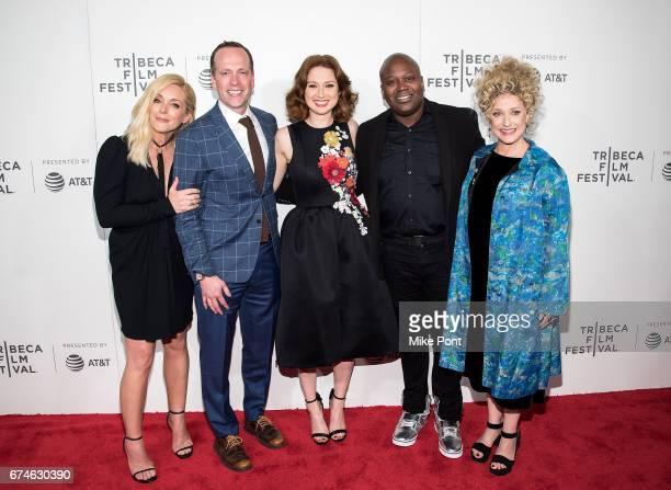 Jane Krakowski Robert Carlock Ellie Kemper Titus Burgess and Carol Kane attend the 'Unbreakable Kimmy Schmidt' screening during 2017 Tribeca Film...