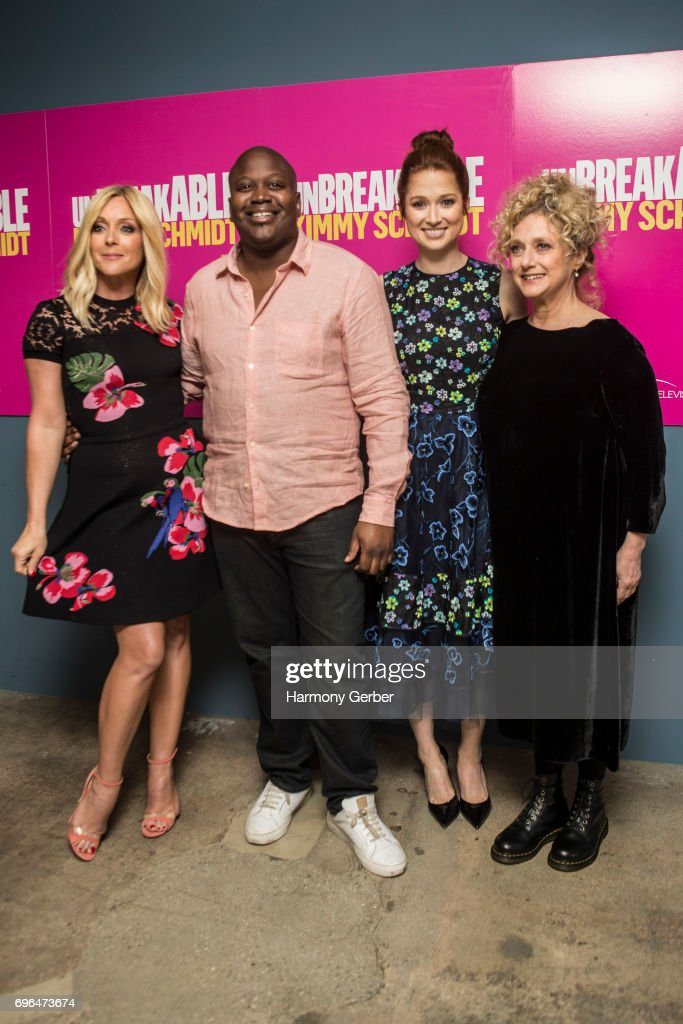 Jane Krakowski, Tituss Burgess, Ellie Kemper and Carol Kane attend Netflix's 'Unbreakable Kimmy Schmidt' FYC @ UCB Sunset Theater on June 15, 2017 in Los Angeles, California.