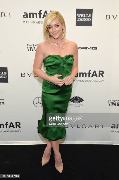 Jane Krakowski wearing Bulgari attends the 2014 amfAR New York Gala at Cipriani Wall Street on February 5 2014 in New York City