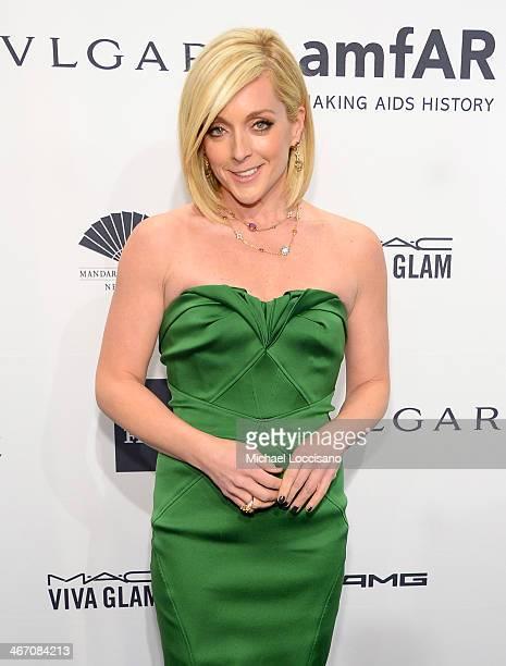 Jane Krakowski wearing Bulgari attends the 2014 amfAR New York Gala at Cipriani Wall Street on February 5 2014 in New York City