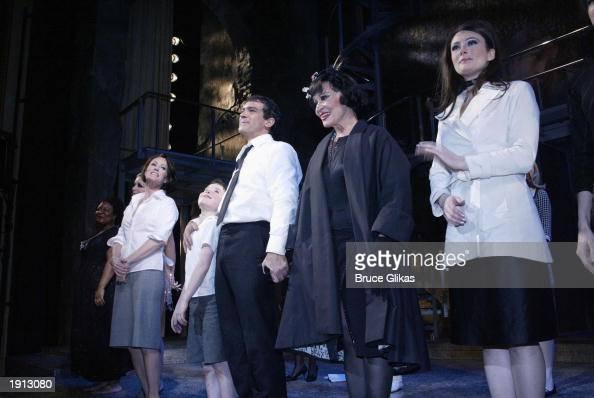 Jane Krakowski William Ullrich Antonio Banderas Chita Rivera and Laura Benanti take their Curtain Call at the Opening Night for The Roundabout...