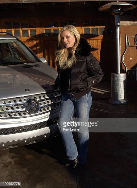 Jane Krakowski with the Mercedes Benz M Class during 2005 Park City Mercedes Benz at the Motorola Lodge Day 3 at Motorola Lodge in Park City Utah...