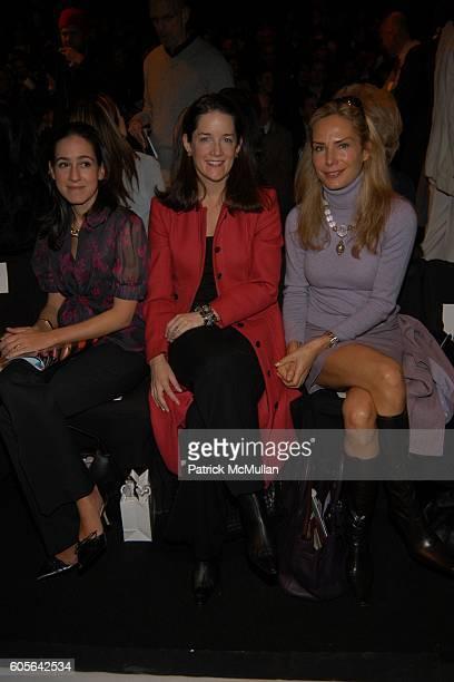 Jane Lauder Tara Rockefeller and Valesca GuerrandHermes attend Carolina Herrera Fall 2006 Fashion Show at The Tent at Bryant Park on February 6 2006...