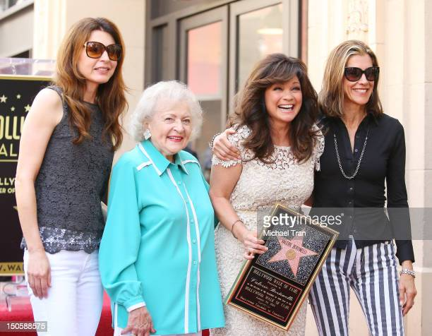 Jane Leeves Betty White Valerie Bertinelli and Wendie Malick attend the ceremony honoring Valerie Bertinelli with a Star on The Hollywood Walk of...