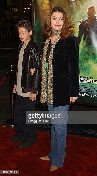 Jane Leeves nephew Colin during 'Star Trek Nemesis' World Premiere at Grauman's Chinese Theatre in Hollywood California United States