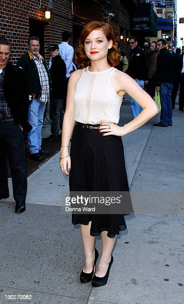 Jane Levy arrives for the 'Late Show With David Letterman' at the Ed Sullivan Theater on October 25 2011 in New York City