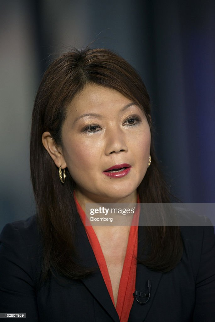 Jane Li, chief operating officer of Huawei Enterprise USA Inc., speaks during a Bloomberg West television interview in San Francisco, California, U.S., on Wednesday, Jan. 15, 2014. Huawei Enterprise USA Inc. was founded in 2011 and provides telephone voice and data communications services. Photographer: David Paul Morris/Bloomberg via Getty Images