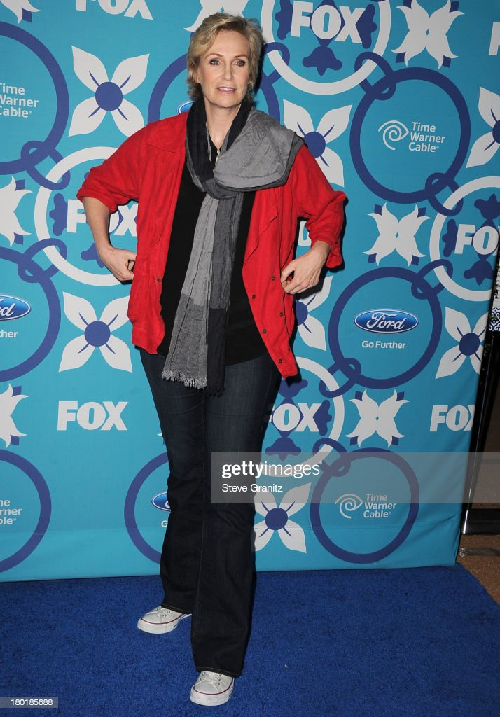 <a gi-track='captionPersonalityLinkClicked' href=/galleries/search?phrase=Jane+Lynch&family=editorial&specificpeople=663918 ng-click='$event.stopPropagation()'>Jane Lynch</a> arrives at the 2013 Fox Fall Eco-Casino Party at The Bungalow on September 9, 2013 in Santa Monica, California.