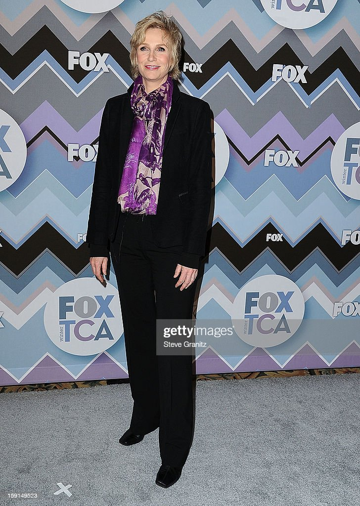 Jane Lynch arrives at the 2013 TCA Winter Press Tour - FOX All-Star Party at The Langham Huntington Hotel and Spa on January 8, 2013 in Pasadena, California.
