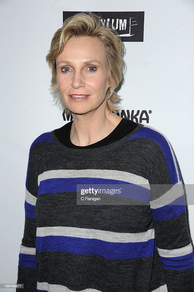 Jane Lynch arrives at The Creative Coalition Spotlight Initiavtive Awards Gala during the 2013 Sundance Film Festival at The Sky Lodge on January 19, 2013 in Park City, Utah.