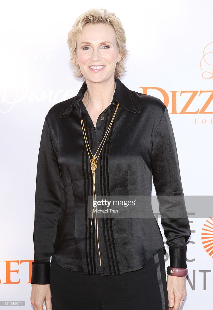 Jane Lynch arrives at the Dizzy Feet Foundation's 3rd Annual Celebration of Dance Gala held at Dorothy Chandler Pavilion on July 27, 2013 in Los Angeles, California.