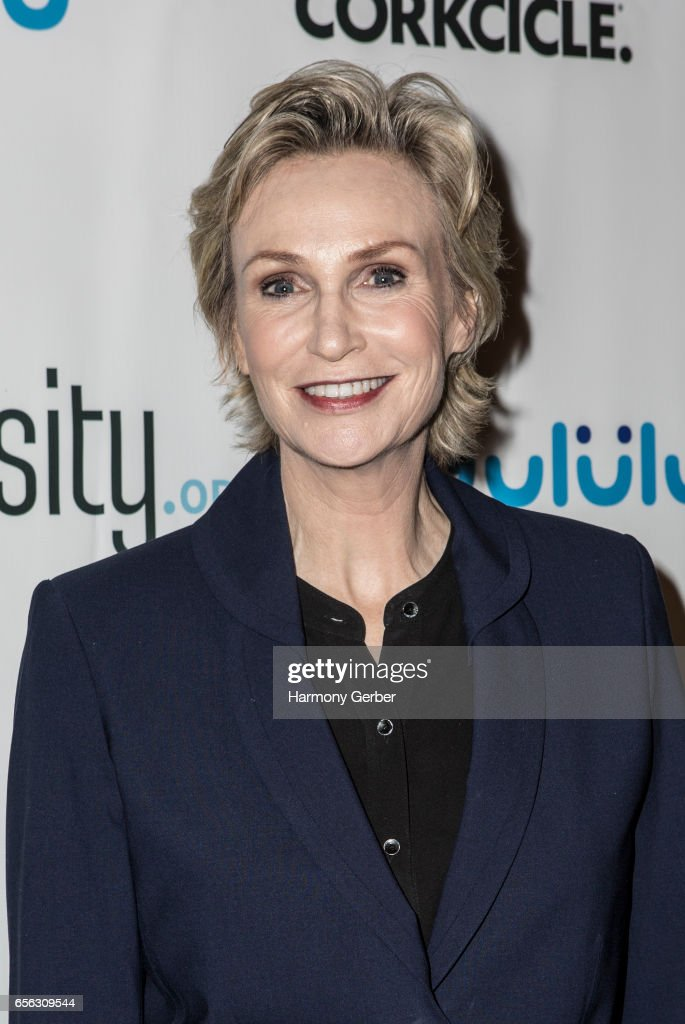 Jane Lynch arrives at the Montage Hotel on March 21, 2017 in Beverly Hills, California.