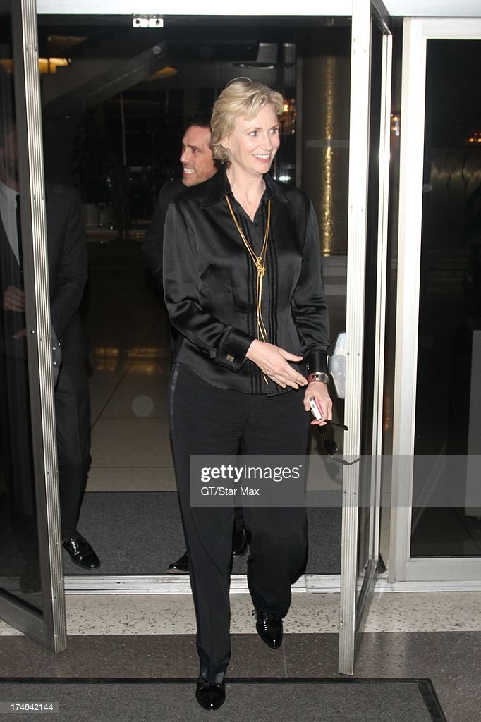 <a gi-track='captionPersonalityLinkClicked' href=/galleries/search?phrase=Jane+Lynch&family=editorial&specificpeople=663918 ng-click='$event.stopPropagation()'>Jane Lynch</a> as seen on July 27, 2013 in Los Angeles, California.