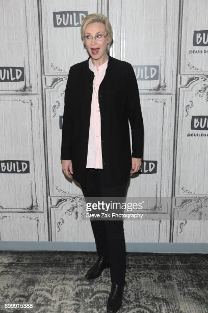 Jane Lynch attends Build Series to disucss her show 'Hollywood Game Night' at Build Studio on June 22 2017 in New York City