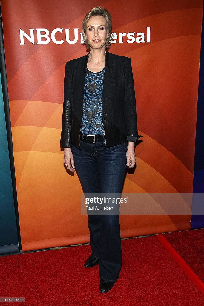 Jane Lynch attends the 2013 NBCUniversal Summer Press Day held at The Langham Huntington Hotel and Spa on April 22, 2013 in Pasadena, California.