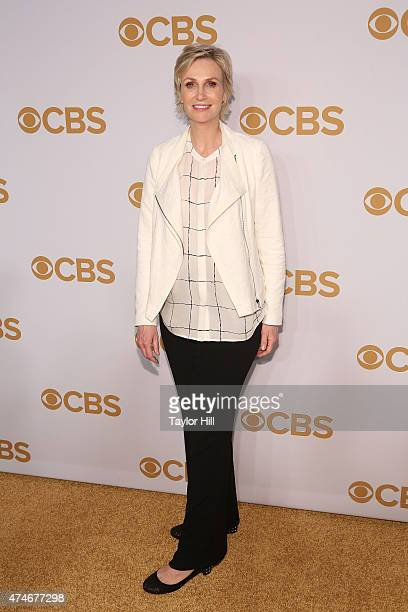 Jane Lynch attends the 2015 CBS Upfront at The Tent at Lincoln Center on May 13 2015 in New York City