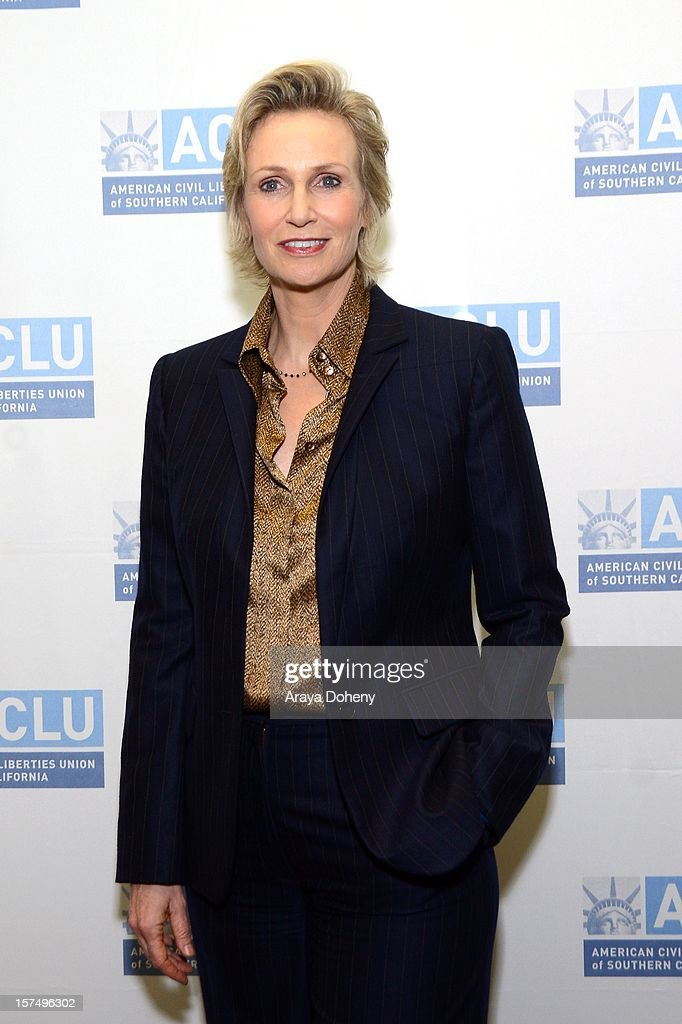 Jane Lynch attends the ACLU of Southern California's 2012 Bill of Rights Dinner at the Beverly Wilshire Four Seasons Hotel on December 3, 2012 in Beverly Hills, California.