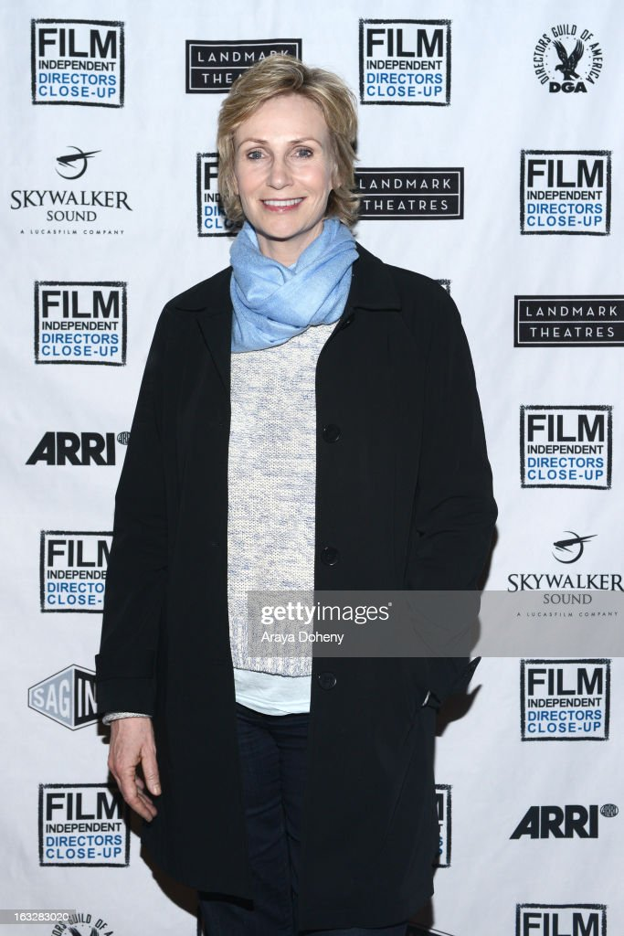 <a gi-track='captionPersonalityLinkClicked' href=/galleries/search?phrase=Jane+Lynch&family=editorial&specificpeople=663918 ng-click='$event.stopPropagation()'>Jane Lynch</a> attends the Film Independent Directors Close-Up 2013 - The Actors: Getting Great Performances at Landmark Nuart Theatre on March 6, 2013 in Los Angeles, California.