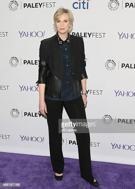 Jane Lynch attends The Paley Center for Media's 32nd annual PALEYFEST LA 'Glee' at Dolby Theatre on March 13 2015 in Hollywood California