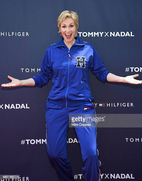 Jane Lynch attends the Tommy Hilfiger and Rafael Nadal Global Brand Ambassadorship Launch at Bryant Park on August 25 2015 in New York City
