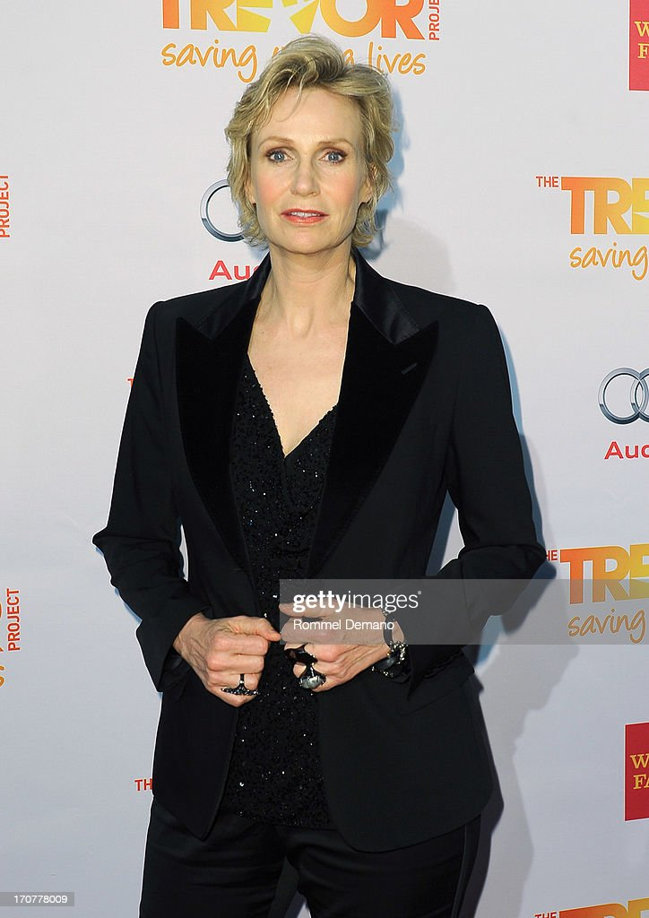 <a gi-track='captionPersonalityLinkClicked' href=/galleries/search?phrase=Jane+Lynch&family=editorial&specificpeople=663918 ng-click='$event.stopPropagation()'>Jane Lynch</a> attends the TrevorLIVE New York at Pier Sixty at Chelsea Piers on June 17, 2013 in New York City.