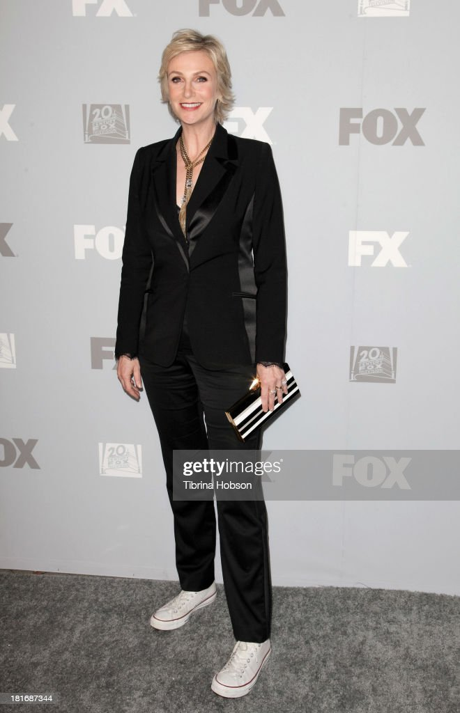 <a gi-track='captionPersonalityLinkClicked' href=/galleries/search?phrase=Jane+Lynch&family=editorial&specificpeople=663918 ng-click='$event.stopPropagation()'>Jane Lynch</a> attends the Twentieth Century FOX Television and FX Emmy Party at Soleto on September 22, 2013 in Los Angeles, California.