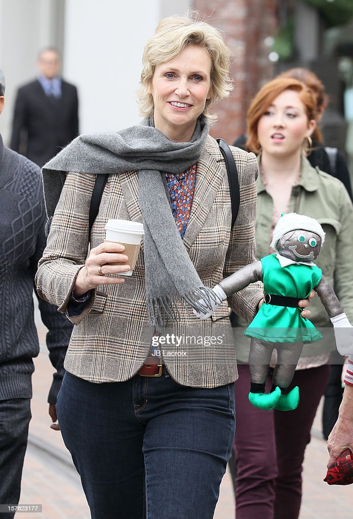 Jane Lynch is seen at The Grove on December 4, 2012 in Los Angeles, California.