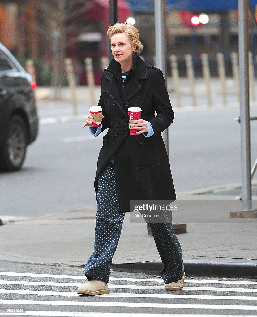 Jane Lynch is seen in Soho on January 6, 2013 in New York City.
