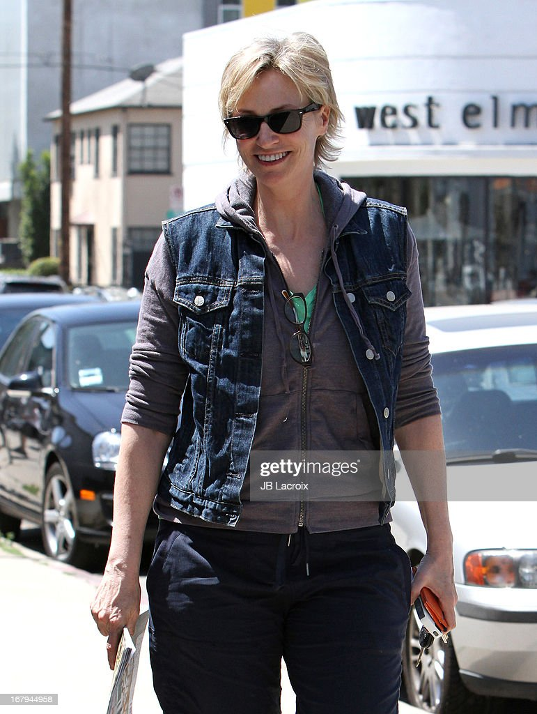 Jane Lynch is seen on May 2, 2013 in Los Angeles, California.