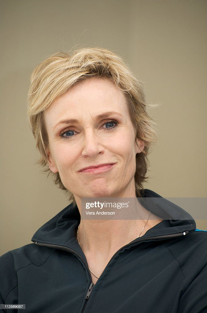 <a gi-track='captionPersonalityLinkClicked' href=/galleries/search?phrase=Jane+Lynch&family=editorial&specificpeople=663918 ng-click='$event.stopPropagation()'>Jane Lynch</a> on the set of 'Glee' at Paramount Studios on July 20, 2009 in Los Angeles, California.