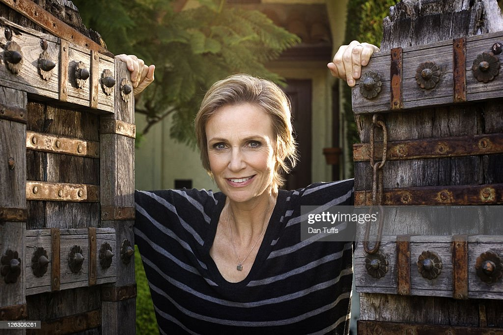 Jane Lynch poses for a portrait session in Los Angeles, California on August 21, 2010.