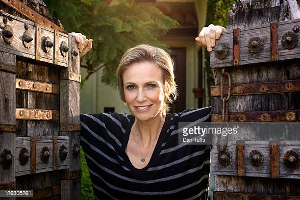 Jane Lynch poses for a portrait session in Los Angeles California on August 21 2010