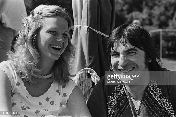 Jane Manson and Serge Lama at the French song for Olympiad in Greece on May 10 1978