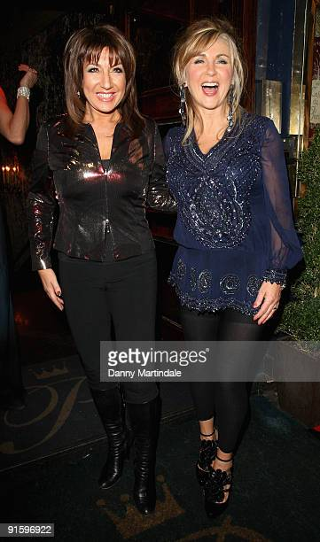 Jane McDonald and Leslie Garrett attend a party to celebrate ten years of the television programme Loose Women at Cafe de Paris on October 8 2009 in...