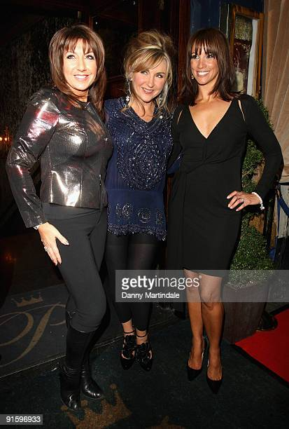 Jane McDonald Leslie Garrett and Andrea Mclean attend a party to celebrate ten years of the television programme Loose Women at Cafe de Paris on...